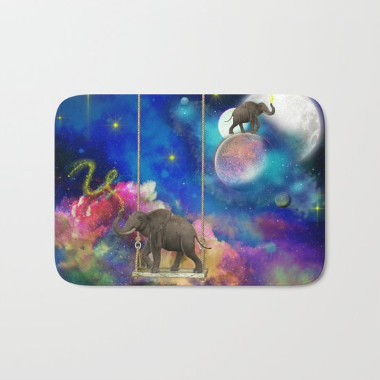 Space elephants Bath Mat