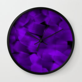 Translucent Stripes of Purple Ribbon Wall Clock