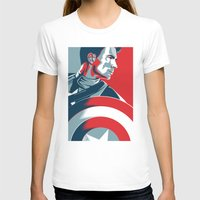avenger T-shirts featuring The First Avenger by Olivia Desianti