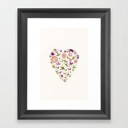 GARDEN HEART - PURPLE Framed Art Print