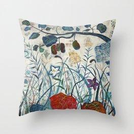 nature【Japanese painting】 Throw Pillow