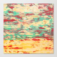 wooden Canvas Prints featuring Wooden Pattern by Patterns and Textures