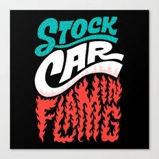 Stock Car Flaming Canvas Print