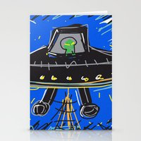 ufo Stationery Cards featuring Ufo by Rimadi