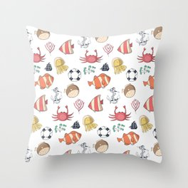 Sea Life Pattern Throw Pillow