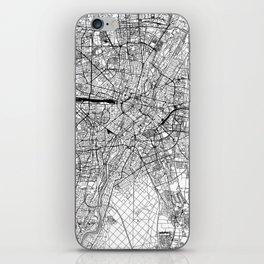Munich White Map iPhone Skin