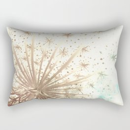 Queen Anne's Lace Retro Stars Rectangular Pillow