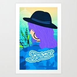 Bronx Girl Art Print