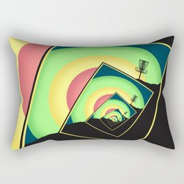 Spinning Disc Golf Baskets 5 Rectangular Pillow