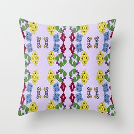 Four Types Of Violets Throw Pillow
