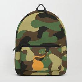 CAMO & ORANGE BOMB DIGGITY Backpack