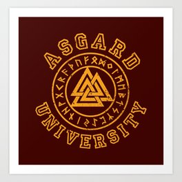 Asgard University Art Print