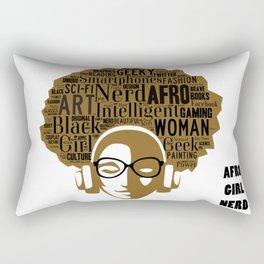 Afro Nerd Girl Rectangular Pillow