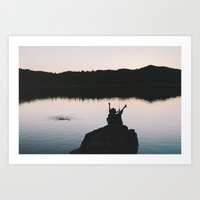 Cold Beer & a Fishing Pole Art Print