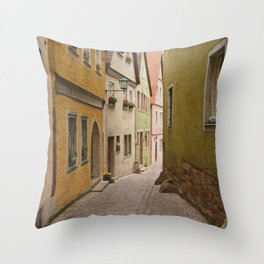 Italian Alley - Bright Colors Throw Pillow