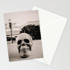 Downtown skull Stationery Cards