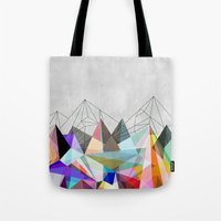 mountain Tote Bags featuring Colorflash 3 by Mareike Böhmer