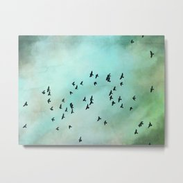 Bird Photograph - Nature Flying Birds Metal Print