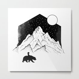 Mountains Friends Metal Print