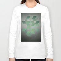 gray pattern Long Sleeve T-shirts featuring Moss & Gray  by DuckyB
