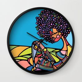 Afro Wall Clock