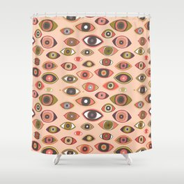 Pattern Project #16 / Hungry Eyes Shower Curtain