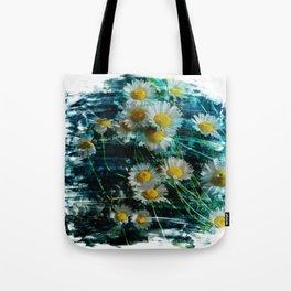 Ox-eye daisy flower brushstrokes Tote Bag