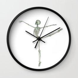 Ballerina Skeleton in Arabesque: Ballet lover Gift Wall Clock
