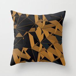3D Futuristic GEO VI Throw Pillow
