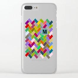 M Monogram Clear iPhone Case