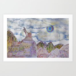 Cusco cartoon Art Print