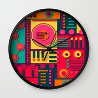 sunrise Wall Clocks featuring Sunrise by Shelly Bremmer