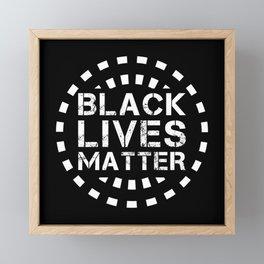 Black Lives Matter BLM & Equality Framed Mini Art Print