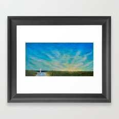Walking to the Beach Framed Art Print