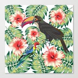 Tropical Birds of Paradise Design 1 Canvas Print