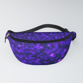Christmas Blue Purple Night Snowflakes Fanny Pack
