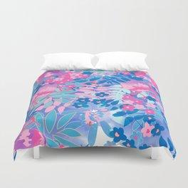 Pastel Watercolor Flowers Duvet Cover
