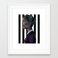 karen Framed Art Prints featuring Karen by NuranSeren