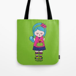 Kokoro flower doll Tote Bag