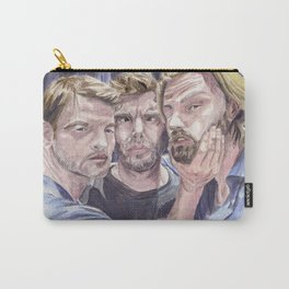 Team Free Will 2.: Misha Collins; Jared Padalecki and Jensen Ackles, watercolor painting Carry-All Pouch