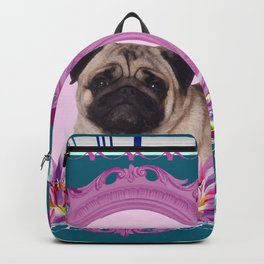 Frame Pug - Mops colorful Pattern Backpack
