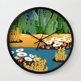Summer River Wall Clock