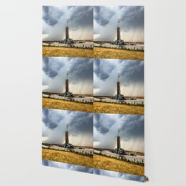 Nevermind the Weather - Oil Rig and Passing Storm in Oklahoma Wallpaper