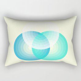 Three colour circles inverted, inspired by Lacouture's Répertoire chromatique Rectangular Pillow