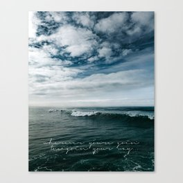 Surfing Ocean Beach San Diego Canvas Print