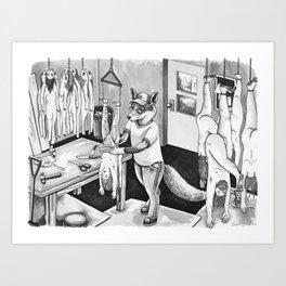 Human Skinning Art Print