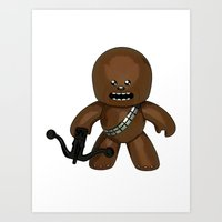 chewbacca Art Prints featuring Chewbacca by gotselvedge.com