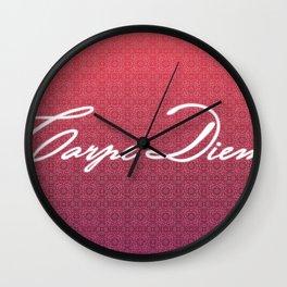Carpe Diem. Wall Clock