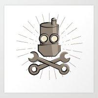 Jolly Robot 01 Art Print