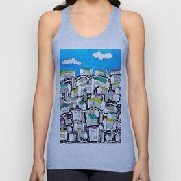 Colorful Cottages Unisex Tank Top